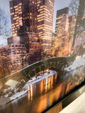 Liquid Art Mirror Frame Central Park New York Bridge Wall Hanging Picture