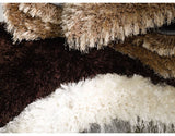 Pearl Chocolate Brown 7cm Thick Shag Pile Floor Rug