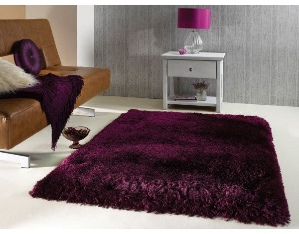 Pearl Purple Grape 7cm Thick Shag Pile Floor Rug
