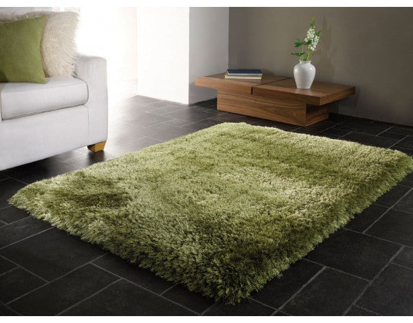 Pearl Sage Green 7cm Thick Shag Pile Floor Rug