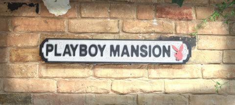 Playboy Mansion Vintage Road Sign