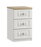 Portofino 3 Drawer Bedside Chest of Drawers