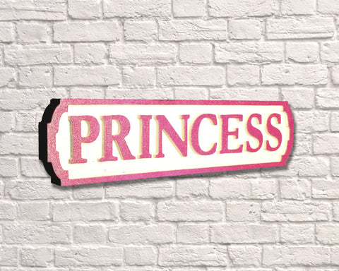 Princess Pink Glitter Road Sign