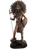 Copper Effect Male American Indian Ornament