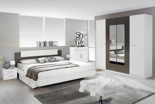 Borba Contrast Hinged Mirrored Door Wardrobe