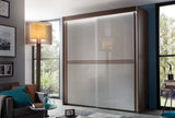 Ravenelli Gloss 3 Stripe Illuminated Sliding Wardrobe - White or Grey