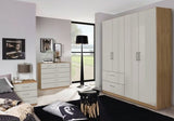 Cherry Hinged Wardrobe in High Polish Sand Grey