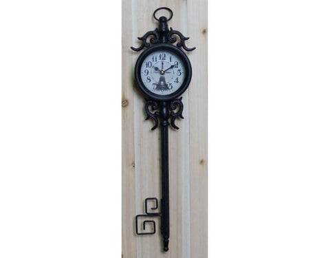Black Paris Pendant Wall Clock Shabby Chic French Country