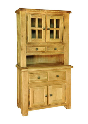 Weathered Oak Small Buffet & Hutch
