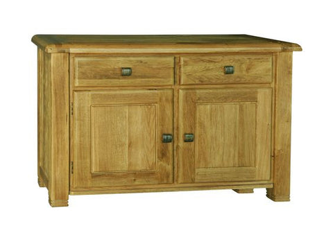 Weathered Distressed Reclaimed Oak Small Medium Sideboard