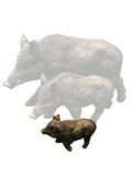 Bronze Effect Small Wild Boar Ornament