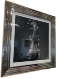 Liquid Art Silver Frame Stocking Legs Wall Hanging Picture