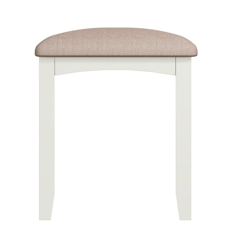 Fresh White with Padded Seat Dressing Table Stool