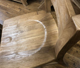 Weathered Oak Tall Bar Stool Chair