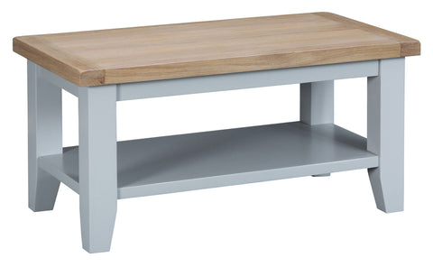 Oak & Hardwood Grey Small Coffee Table