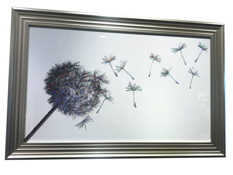 Silver Liquid Art Dandelion Blower Sugar Stealer Wall Art