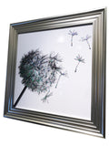 Silver Liquid Art Dandelion Blower Sugar Stealer Wall Art (Square)