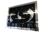 Crystal Fish Black Rectangular Mirror