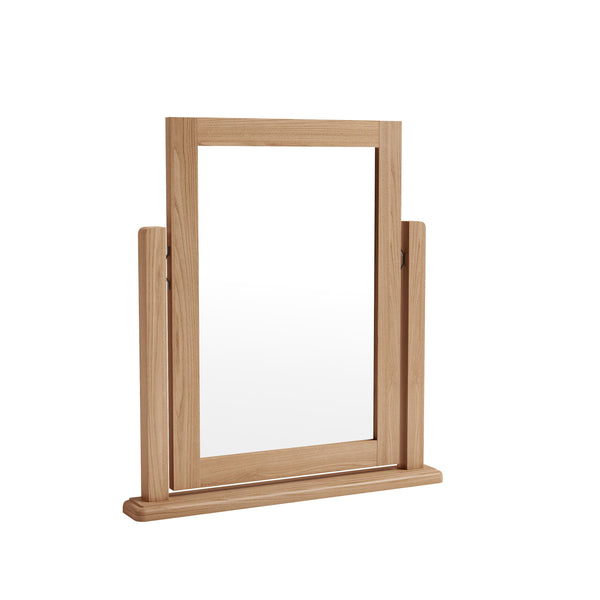 Light Oak Effect Tilting Trinket Mirror