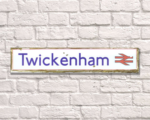 Twickenham Metal Vintage Road Sign