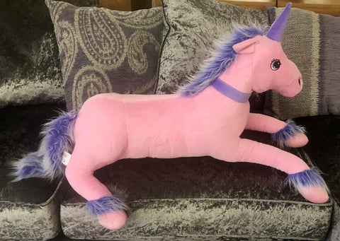 Purple & Pink Unicorn Soft Toy (Large)