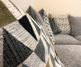 Vegas Grey & Geometric Triangle Fabric Collection