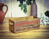 Vintage Retro Strawberries Fruit Solid Wood Box