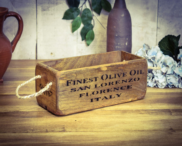 Olive Oil Solid Wood Vintage Box