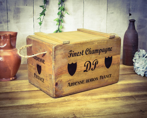 Finest Champagne Vintage Solid Wood Chest