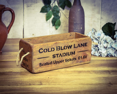 Solid Wood Cold Blow Lane Millwall Vintage Stadium Box