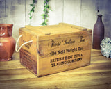 Finest Indian British Tea Vintage Solid Wood Chest