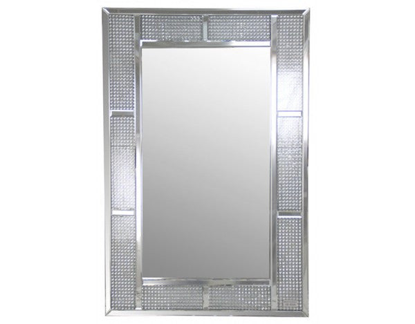 Panel Section Glass Cube Frame Wall Mirror