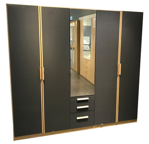 Towers Rivera Oak Mirrored Wardrobe