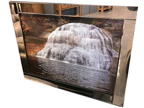 Liquid Art Mirror Frame Glitter Waterfall Hanging Picture
