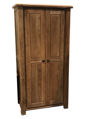 "Weathered Oak ""His"" Wardrobe"