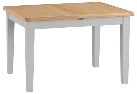 1.2m Oak & Hardwood Grey Butterfly Extending Table