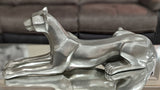 Pewter Styled Resting Panther Ornament