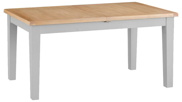 1.6m Oak & Hardwood Grey Butterfly Extending Table