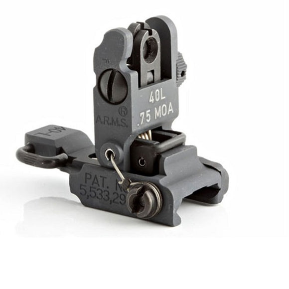 A.R.M.S. #40L Stand Alone Low Profile Flip Up Rear Sight