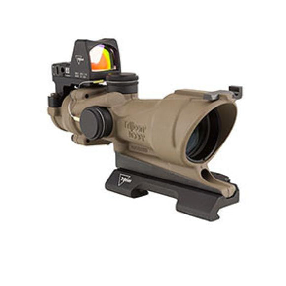 Trijicon TA01-D-100555 ACOG 4x32 Flat Dark Earth Scope with 3.25 MOA RMR Sight