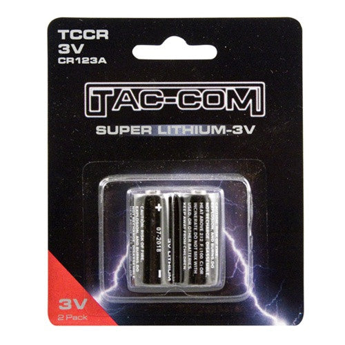 TACCOM Super Lithium CR123A 3 Volt Batteries 2 Pack