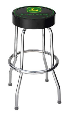 John Deere Black Top Garage Bar Stool - tractorup2