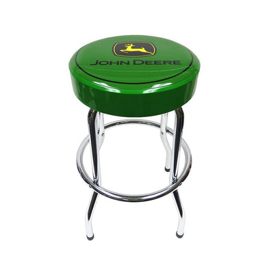 John Deere Green Top Garage Bar Stool - tractorup2