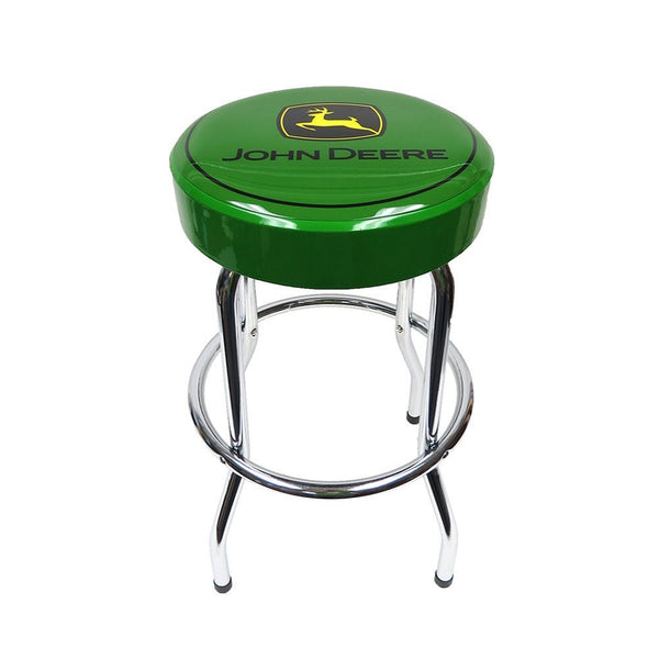 John Deere Green Top Garage Bar Stool