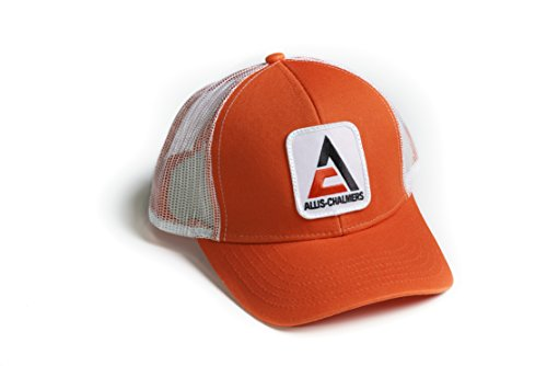 Allis Chalmers Tractor Hat, New Logo, Orange with White mesh Back, - tractorup2