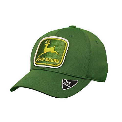 John Deere Memory Fit Vintage Hat JD Green One Size - tractorup2