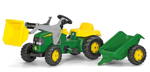 John Deere Riding Tractor With Trailer