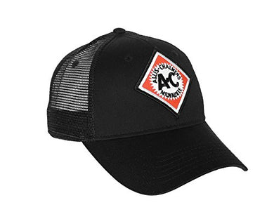 Allis Chalmers Hat with Vintage AC Logo, Black Mesh - tractorup2
