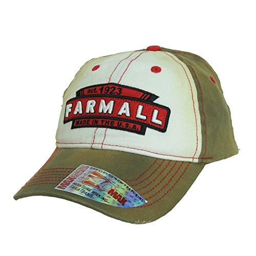 Farmall Youth Tea-Stained Hat, Brown and White