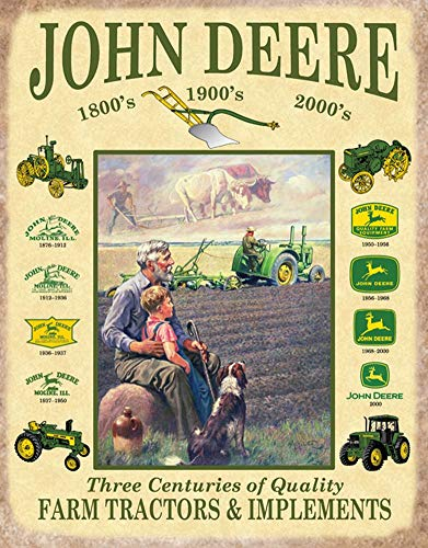 John Deere Three Centuries Metal Sign
